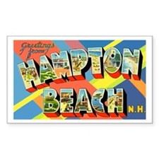 Hampton Beach New Hampshire Rectangle Decal