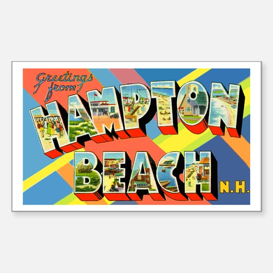 Hampton Beach New Hampshire Rectangle Decal