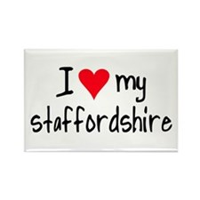I LOVE MY Staffordshire Rectangle Magnet
