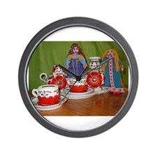 Russian Doll Tea Time Wall Clock