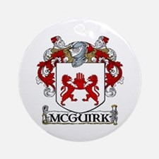 McGuirk Coat of Arms Ornament (Round)