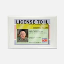 License to Il Rectangle Magnet