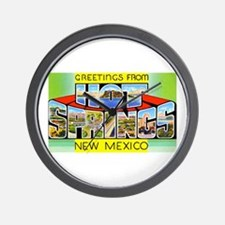 Hot Springs New Mexico Wall Clock