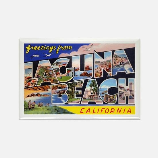 Laguna Beach California Greetings Rectangle Magnet