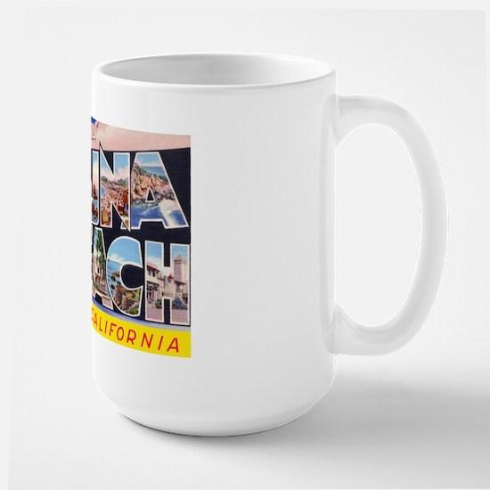 Laguna Beach California Greetings Large Mug