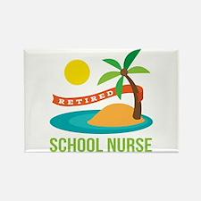Retired School Nurse Rectangle Magnet