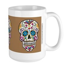 SugarSkull Halloween Khaki Mugs