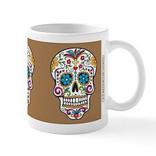 SugarSkull Halloween Khaki Mugs