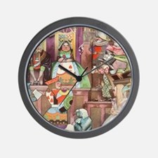 Vintage Alice in Wonderland Wall Clock