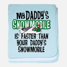 Daddy's Snowmobile baby blanket