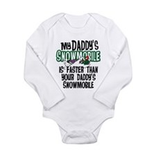 Daddy's Snowmobile Long Sleeve Infant Bodysuit