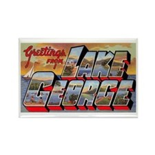 Lake George Greetings Rectangle Magnet