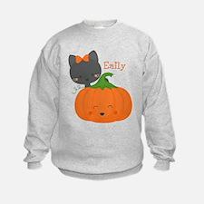 Kitty and Pumpkin Personalized Sweatshirt