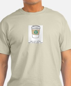 gimme coffee ash grey tee