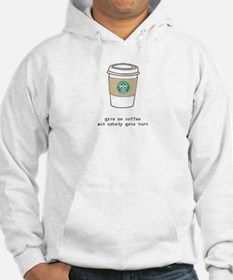 gimme coffee hooded sweatshirt