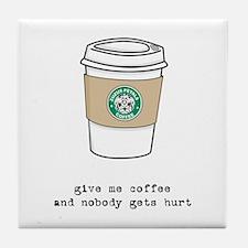 gimme coffee tile coaster