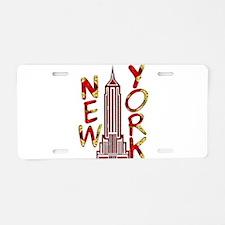 Empire State Building 2f Aluminum License Plate