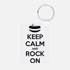 Keep Calm and Rock On - Curling Keychains