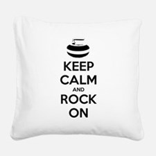 Keep Calm and Rock On - Curling Square Canvas Pill