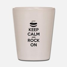 Keep Calm and Rock On - Curling Shot Glass