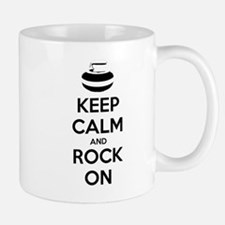 Keep Calm and Rock On - Curling Mugs
