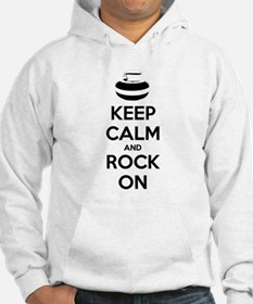 Keep Calm and Rock On - Curling Hoodie