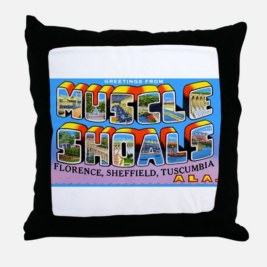 Muscle Shoals Alabama Greetings Throw Pillow