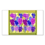 Grapes On Vineyard Leaves Sticker