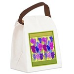 Grapes On Vineyard Leaves Canvas Lunch Bag
