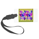 Grapes On Vineyard Leaves Luggage Tag