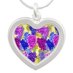 Grapes On Vineyard Leaves Necklaces