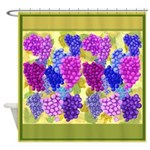 Grapes On Vineyard Leaves Shower Curtain