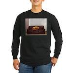 Couch Potato Long Sleeve Dark T-Shirt