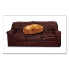 Couch Potato Rectangle Decal