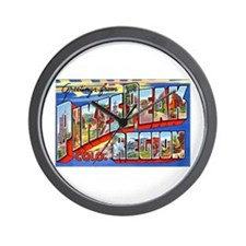 Pikes Peak Colorado Greetings Wall Clock
