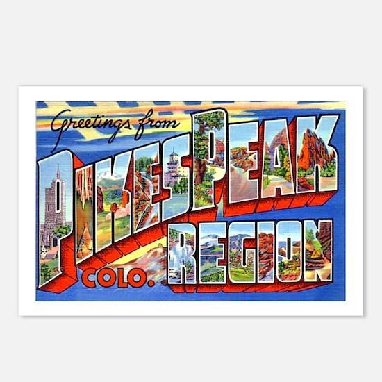 Pikes Peak Colorado Greetings Postcards (Package o