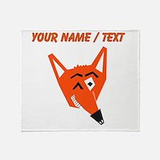 Custom Winking Fox Throw Blanket