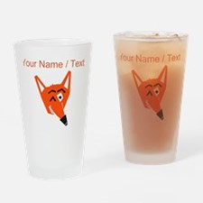 Custom Winking Fox Drinking Glass