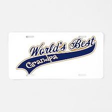 Worlds Best Grandpa Aluminum License Plate