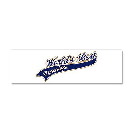 Worlds Best Grandpa Car Magnet 10 x 3
