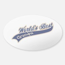 Worlds Best Grandpa Sticker (Oval)