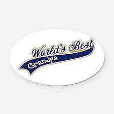 Worlds Best Grandpa Oval Car Magnet