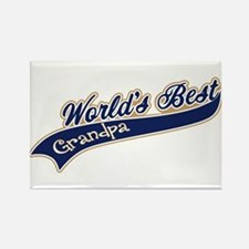 Worlds Best Grandpa Rectangle Magnet