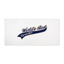 Worlds Best Grandpa Beach Towel