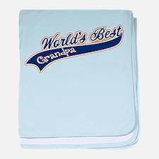 Worlds Best Grandpa baby blanket