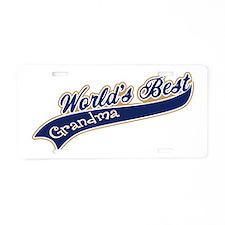 Worlds Best Grandma Aluminum License Plate