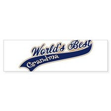 Worlds Best Grandma Bumper Sticker