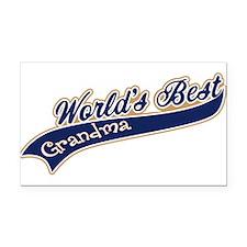 Worlds Best Grandma Rectangle Car Magnet