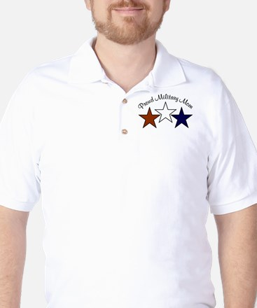Proud Military Mom Patriotic Golf Shirt