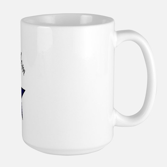 Proud Military Mom Patriotic Large Mug
